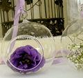Aberto de vidro pendurado bola, natal esfera de vidro presente mh-kx039