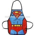 Polyester Kids Children Cheap Superman Pattern Apron For The Kitchen