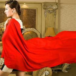 Wholesale Magic Chiffon Woman Wear Red Shawl