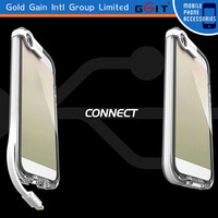 2014 Latest Design LED Light Hard Plastic USB Cable Case For iPhone5/5s