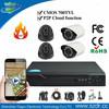 Hot CCTV DVR Kit With H.264 4CH Economic DVR And 4 Pcs D1 Security Camera