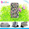 Chinese new product special flowers material mobile phone leather case for iphone 4 4S