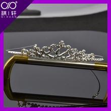 good selling fashion Silver Plated Crystal Rhinestone Bridal Headband Tiara Hair Band with Comb hair hoop QIXUAN