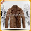ad alta elegante bella pelle di lana pelliccia genuina uomini giacca in pelle