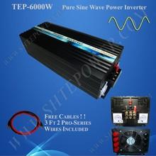 6000W DC to AC solar power inverter, 48V dc to ac 230V 240V pure sine wave converter