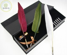 Fancy peacock feather quill pen as business/Hot selling feather quill pen