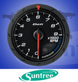 de carreras de calibre defi cr de presión 60mm medidor de voltaje automático de calibre tacómetro rpm medidor de coche