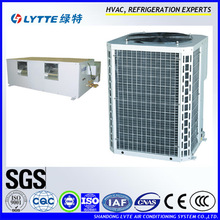 High static pressure ducted split chiller heat pump central air conditioner