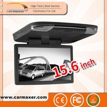 Digital screen 15.6 inch 2014 Hot Sale 15.6 inch Universal car monitor set roof mount supported USB/SD/TV/IR/FM/Wireless game