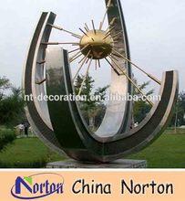 garden abstract metal stainless steel sculpture NTS-080