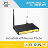 LTE 4G sim slot Router with serial port & 4LAN ports support VPN & ads promotion F3834 for pubilc/outdoor WIFI hotspot