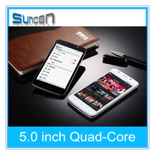 """Quad core dual sim Android 4.4 5"""" IPS Screen Camera 3G android mobile phone"""