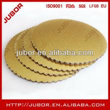 High Quality Scalloped Edge Golden Corrugated Cake Circle