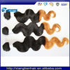 Online shopping site 18-30inch 6a natural raw body wave 1b/27 ombre wholesale virgin human indian hair bun making
