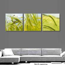 Customer design accept home decor unique gift wheat painting clock