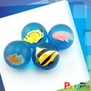2014 Hot Sale 3D Figure Small Hard Rubber Balls Pet Toy Rubber Jumping Ball With Fish Inside