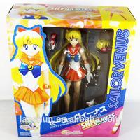 "SHF S.H.Figuarts Pretty Guardian Sailor Moon Sailor Venus Sailor Moon 15cm/5.9"" Action Figure New in Box"