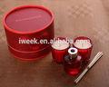 Líquido perfumado caja de lujo aroma velala 100% de cera de soja en tarro de cristal de regalo más calientes