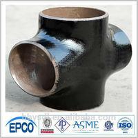 butt welded pipe fittings ASME b16.9 cross carbon steel