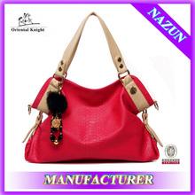 Stock wine red handbag alibaba express designer wholesale leather hand bag