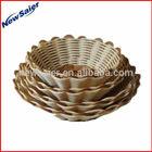 Handmade Bushel Plastic Rattan Basket for storage