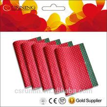 Red circle customer design felt polyester non woven fabric