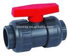 FRPP dark grey socket 1 inch ball valve