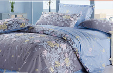 100% cotton flower print duvet cover soft home use wedding use bedding