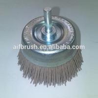 China High quality Aluminium Oxide nylon cup brush for cylinder head polishing