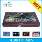 "Hot sale portable 4.3"" mp3 music links"