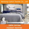 100% pigmento de algodón de impresión de la hoja de cama telas de china alibaba