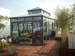 Eco-friendly balcony aluminum prefabricated glass house