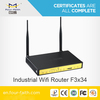 Universal 4g LTE Router with serial port & 4LAN ports support VPN & ads promotion F3834 for pubilc/outdoor WIFI hotspot