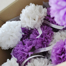 Wedding Decorations Gift Wrapping Colorful Tissue Paper Pom Poms