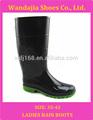 de la mujer de la rodilla de pvc de plástico de alta botas de lluvia