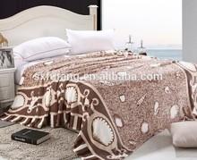 100%polyester Top Grade Sand and Shell Design Korean Style Blanket Flannel Fleece Blanket cheap in bulk