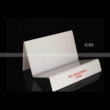Custom logo Imprint Ladder Acrylic Bag Display, White Acrylic Bag Display Stands, Lucite Display Easel for handbag and wallet