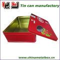 290 * 207 * 86 mm rectángulo caja de lata de té, Embalaje de metal, Envasado de alimentos