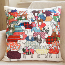 best sale low price cute animal image customized sheep design linen cushion