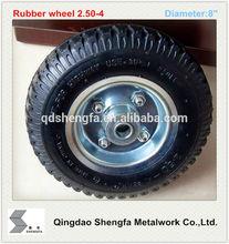 2.50-4 small pneumatic trolley wheel