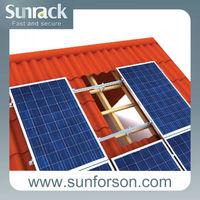 solar panel bracket for 10kw tile roof solar system