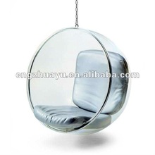 HY-A002 Acrylic hanging bubble chair designed by Eero Aarnio