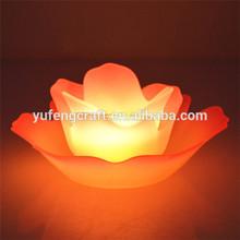 flower stand glass lotus flower tea light