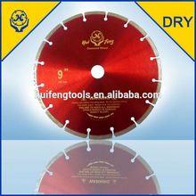 Huifeng dry cutting green concrete diamond saw blades