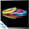 colorful narrow silicone bracelets