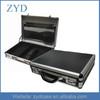 Black instrument box tough custom laptop brief case aluminum case, 460 x 360 x 115 mm