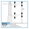Steel pressing overlap tubular distribution electricity galvanizing power poles