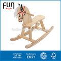alta qualidade de borracha brinquedo cavalo de passeio a cavalo de brinquedo de madeira brinquedo cavalo at11425