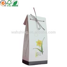 White kraft paper elegant small gift packaging bag with string