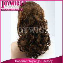 Unprocessed top grade virgin human hair thin skin top lace wig